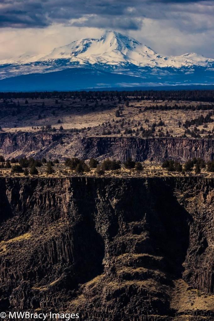 Mountain and canyon wall