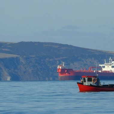 Men at work in The Moray Firth