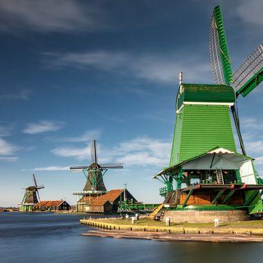 The windmills of Zaanse Schans, Netherlands