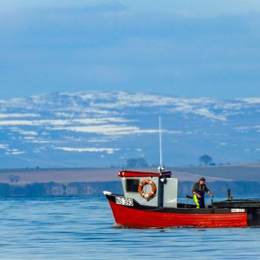 In the Moray Firth, just off Nairn