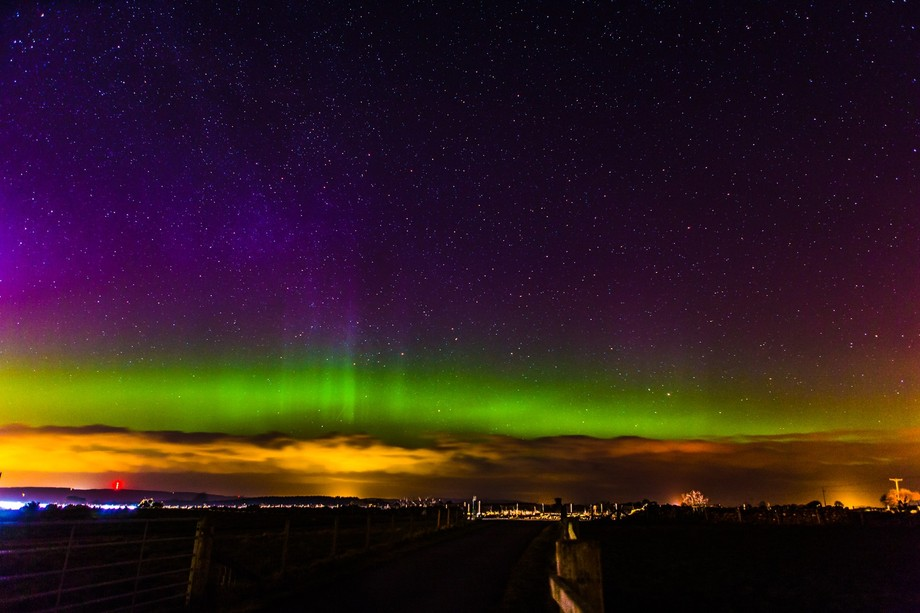 Northern lights over Nairn