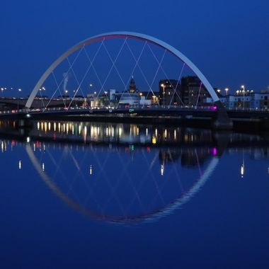 Glasgow The Clyde Bridge Lovely Blue Sky evening for a great Reflections