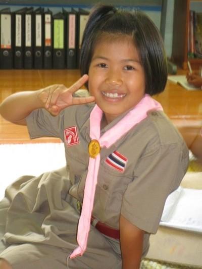 Gookgig in scouting uniform