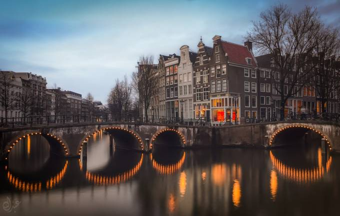 the canal houses by abdelcharaf - Spectacular Bridges Photo Contest