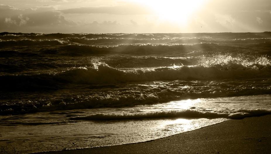 November Sunrise b/w