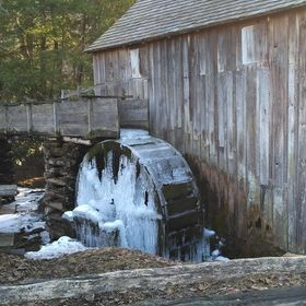Frozen mill in Tennessee