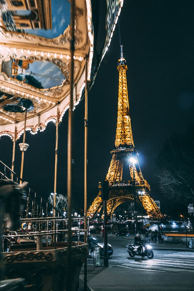 Eiffel Tower at night by ppalacinlafuente - Paris Photo Contest