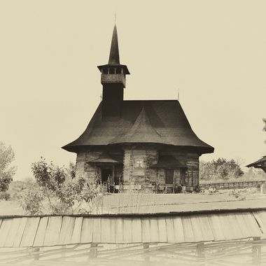 Wooden church built in 1642. Located in Chisinau, Moldova