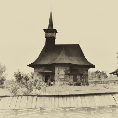 Wooden church built in 1642. Located in Chisinau, Moldova
