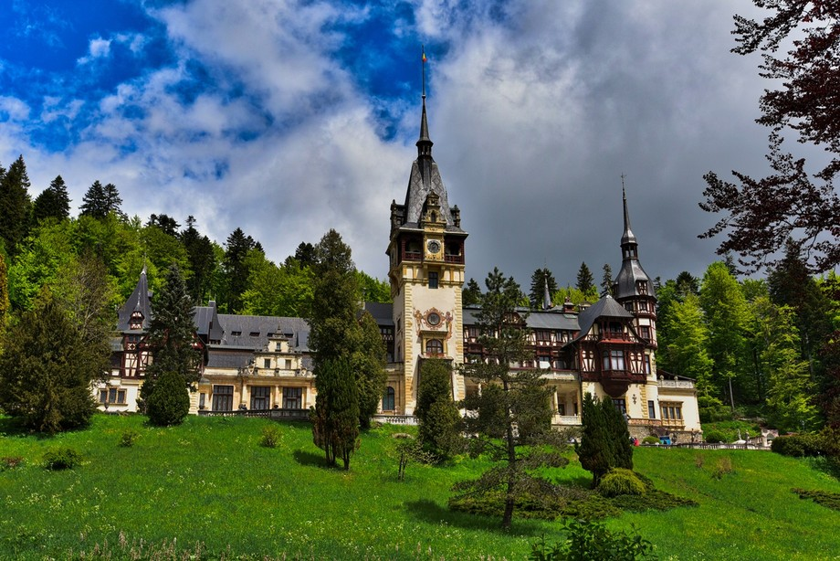 Peles Castle was built in 1873 by King Carol I as the summer residence. It is considered one of the most beautiful castles in all of Europe.