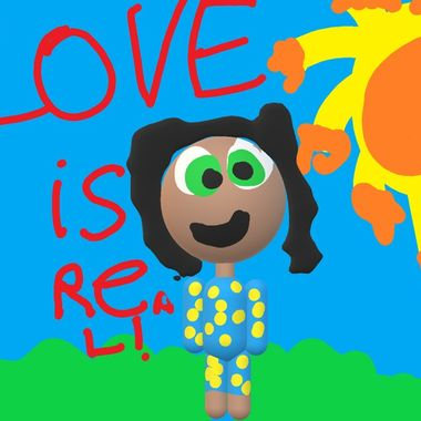 This is the artistic work of my six-year-old granddaughter, Eden.