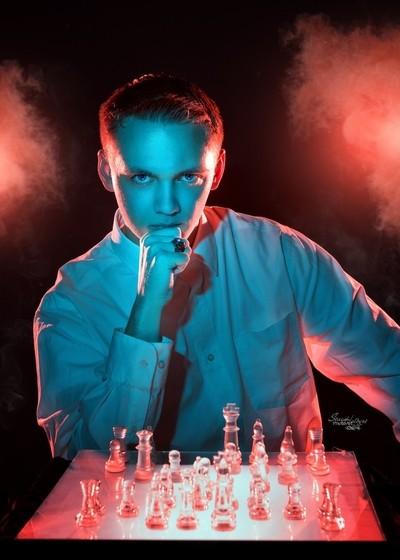 Orange & Teal Chess