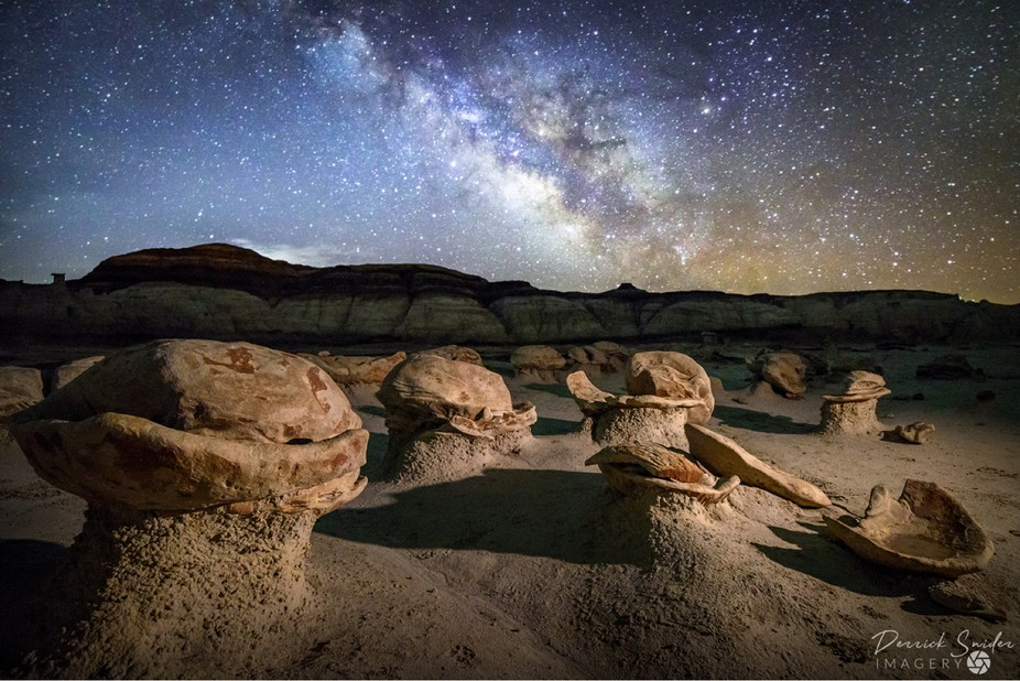 "Offering - Bisti Badlands ""Cracked Eggs"" under the Milky Way"