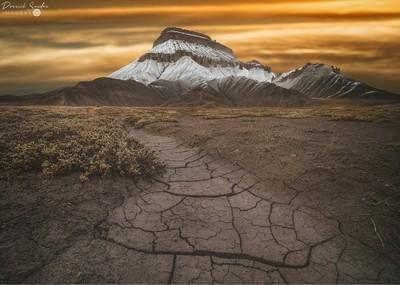 Cracked Meanderings - Mt Garfield, Colorado