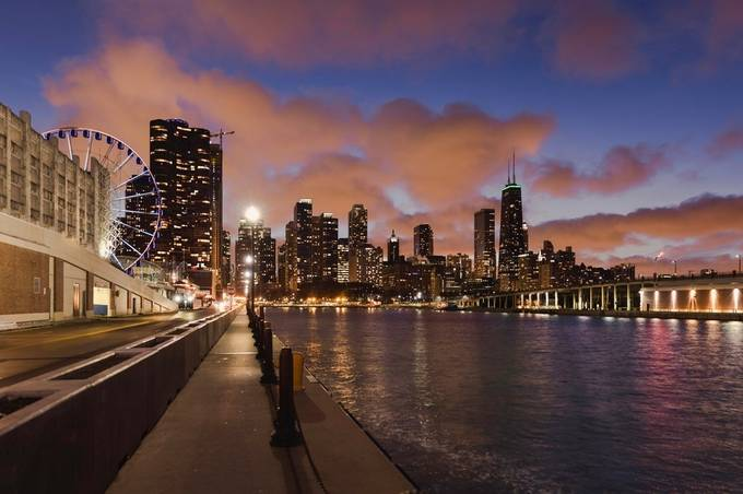 Chicago Sky by ks_pics - Sunset And The City Photo Contest