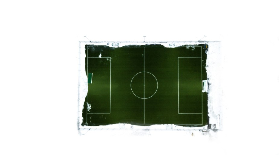 Football, soccer, field, green, winter