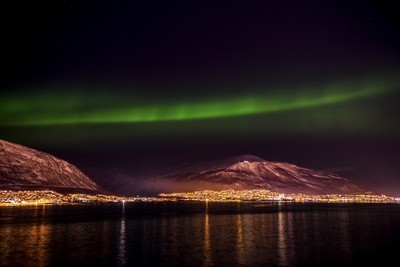 The Aurora Borealis at Tromso Norway