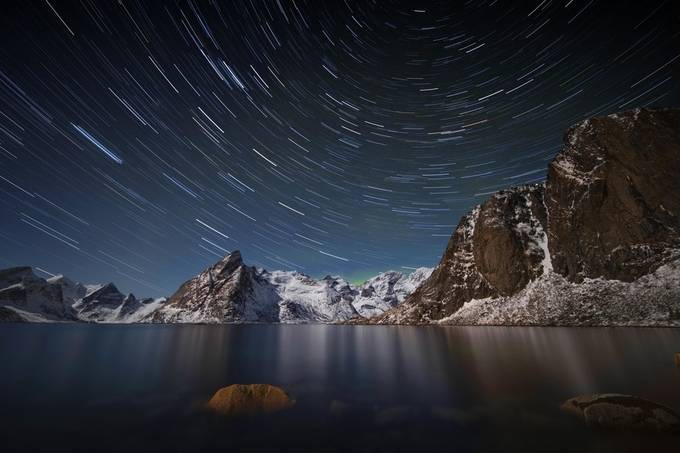 Star Trail Over Hamnoy by lddove - Capture The Stars Photo Contest