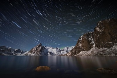Star Trail Over Hamnoy