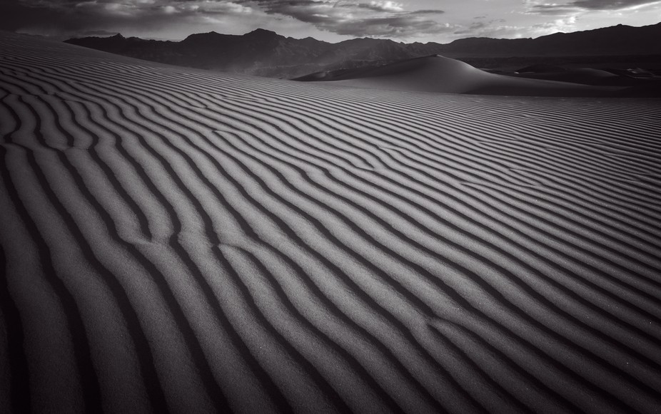 Mesquite Sand Dunes. Death Valley
