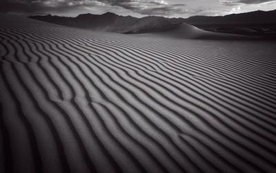 Mesquite Sand Dunes. Death Valley