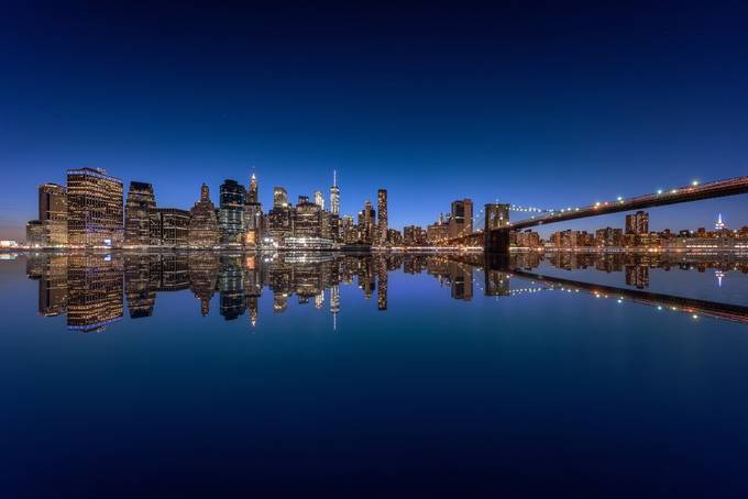 Manhattan Reflection by StefanLueger - Sunset And The City Photo Contest