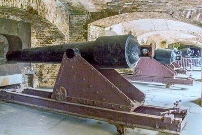 Canons at Fort Sumter