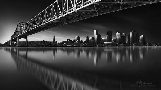 New Orleans Skyline by FredGramoso - Spectacular Bridges Photo Contest