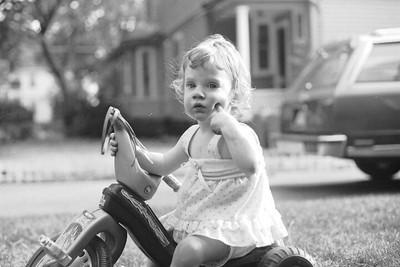 Jill on Big Wheel