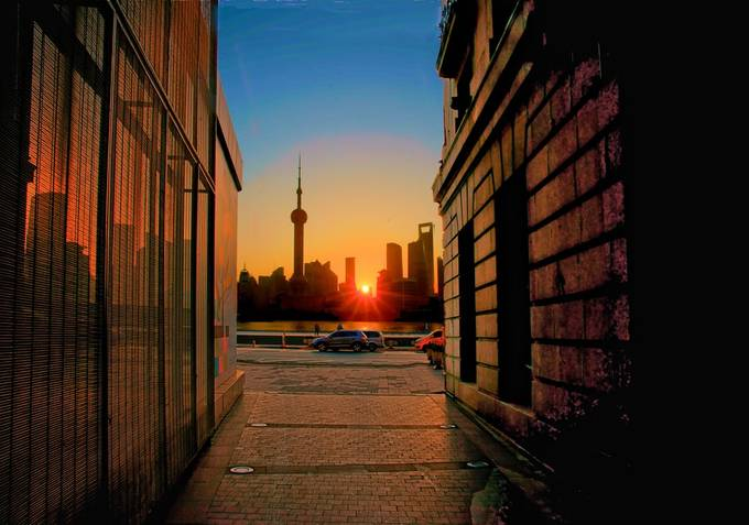 Small Alley View by F8user - Sunset And The City Photo Contest