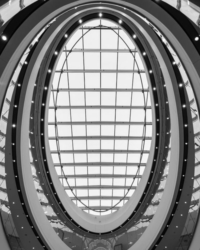 . . . . . #blackandwhitephoto #blackandwhiteonly #sphere #atrium #rideaucentre #lookup #ottawa #canadagram #canada #unitedphotolovers #architecturephotography #architecture #architecturelover #photography #nikon #nikonphotography #nikond750 #malls #downto