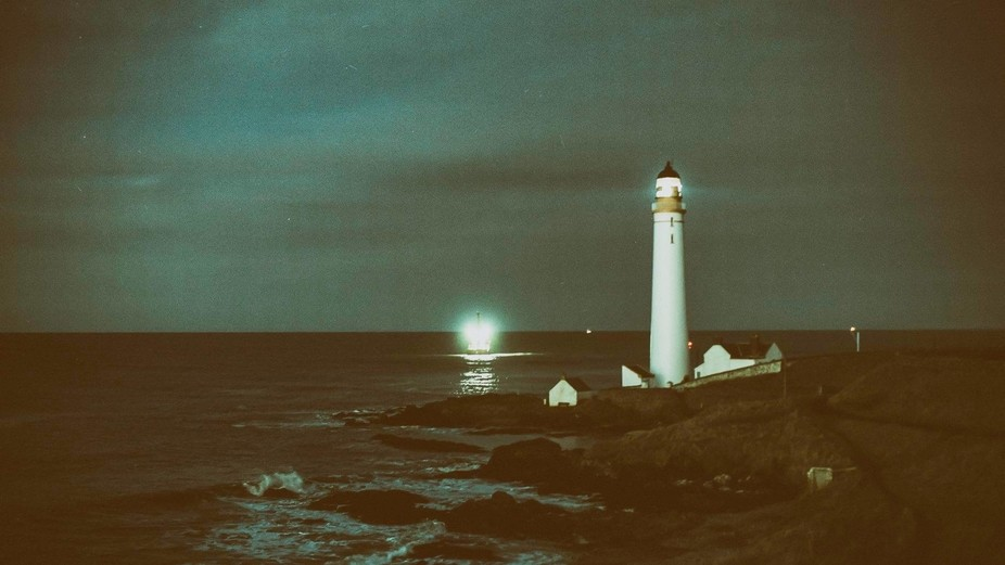 Scurdie Ness Lighthouse marks the entrance to Montrose harbour