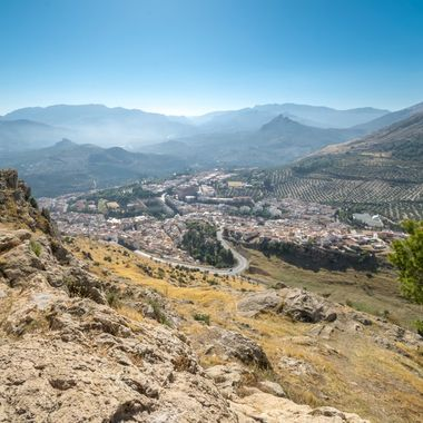 stunning views looking into the valley of Jaen, Spain
