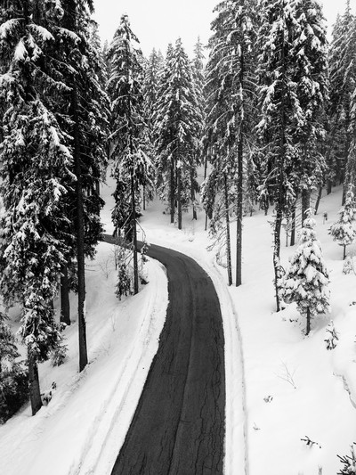 Road to snow where