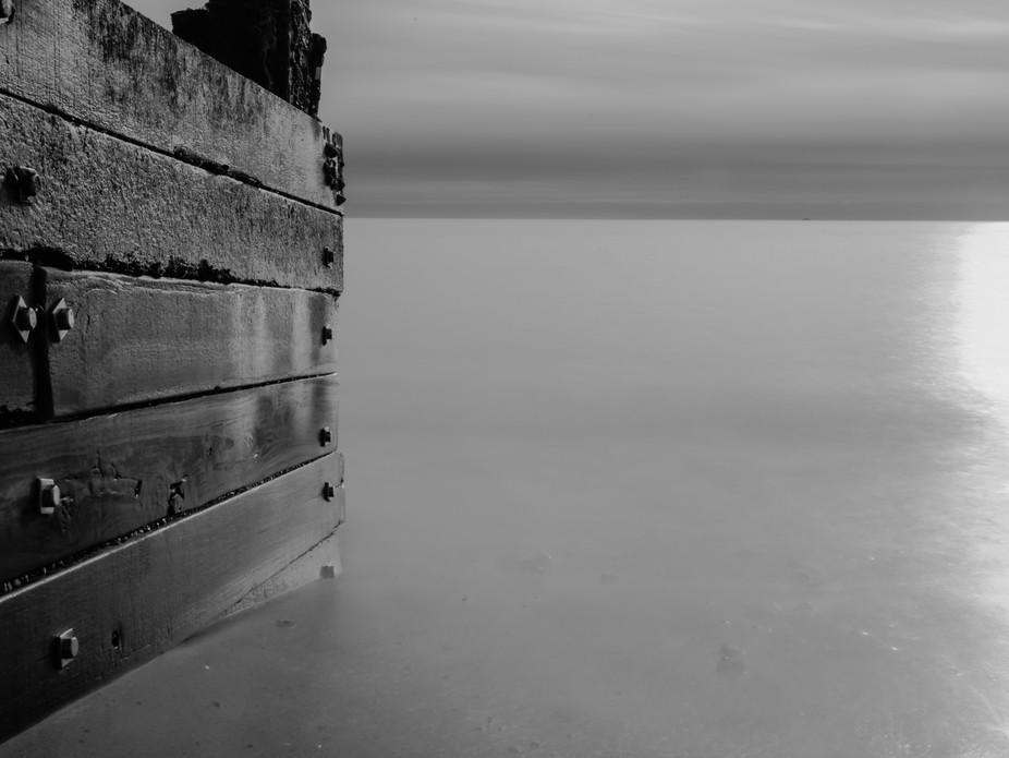 Long exposure of Groyne at Miford-on-Sea