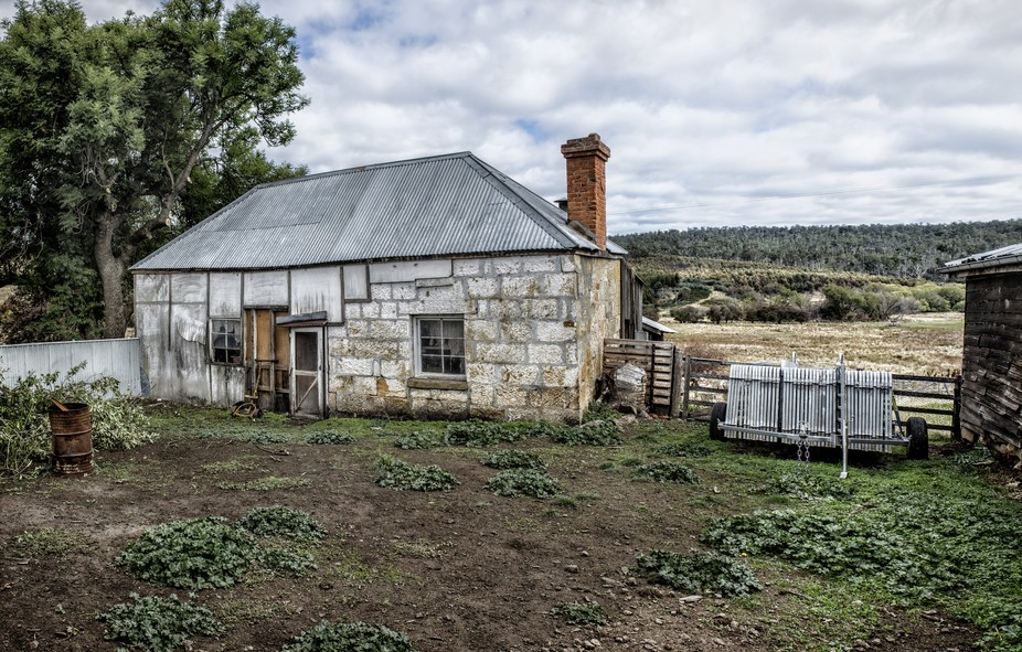 An old cook house on a local  old farm