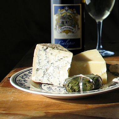 Folk Style Cheese and Wine