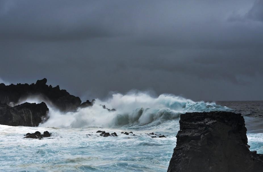 Puna volcanic coast Big Island Hawaii