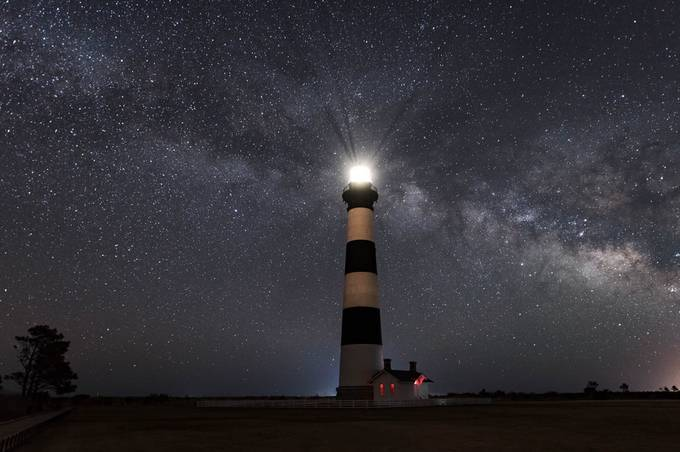 Bodie Island Lighthouse and Milky Way; May, 2018 by syoung_va - Experimental Light Photo Contest