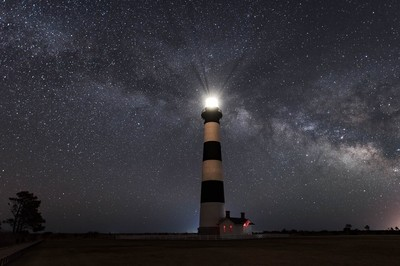 Bodie Island Lighthouse and Milky Way; May, 2018