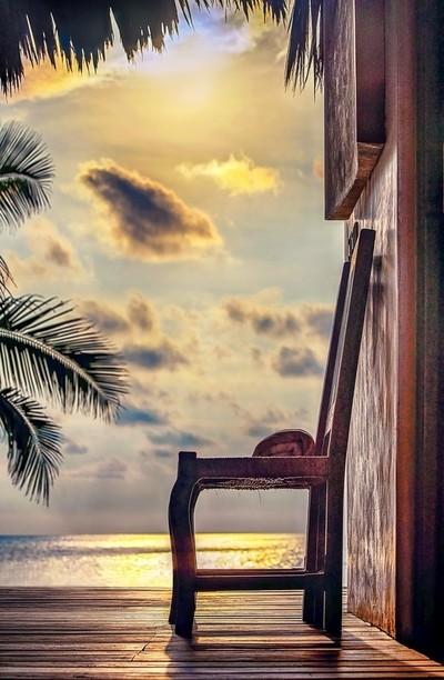 sun bathed chair