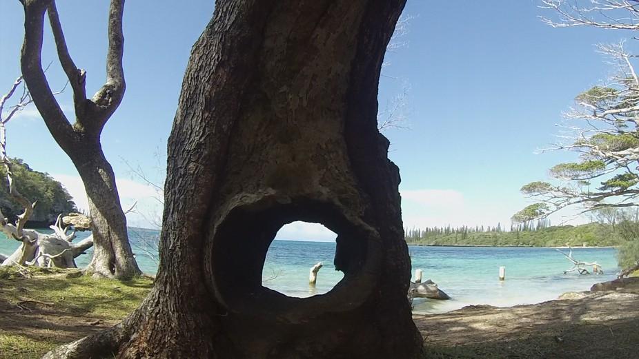 Isle de Pines GoPro view on the beach