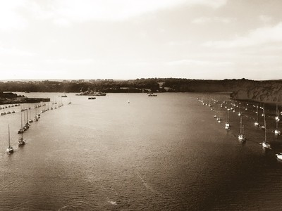 Plymouth from the bridge