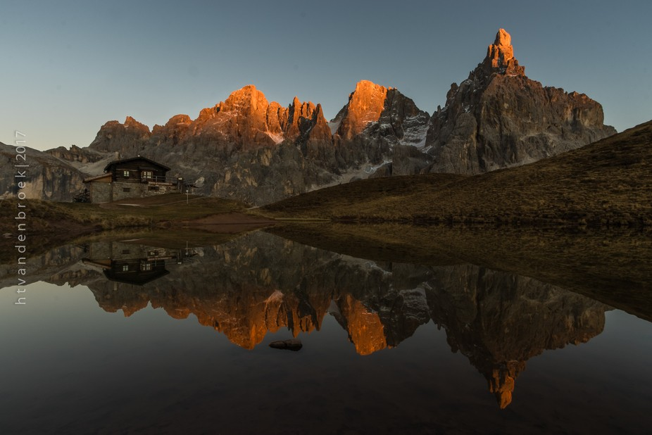 Spotted the last sunlight on the mountains near Baita Segantini during sunset. Capturing the perf...