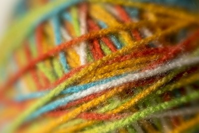 Close up of Yarn Ball