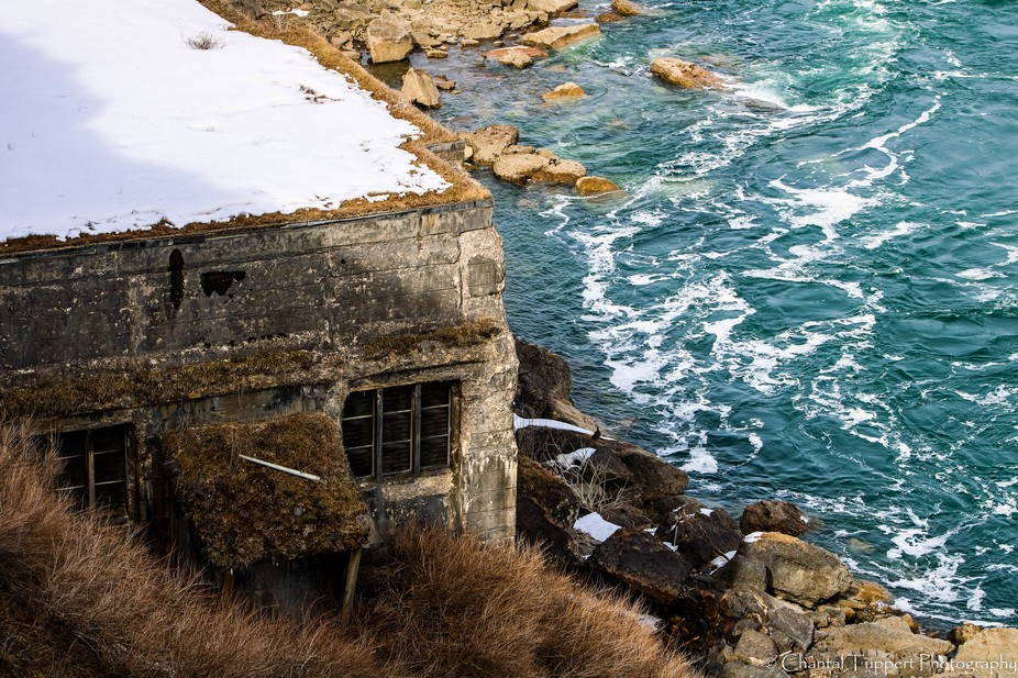 On a cliff.   Love the color of the water  It's my desktop back ground photo and and som...