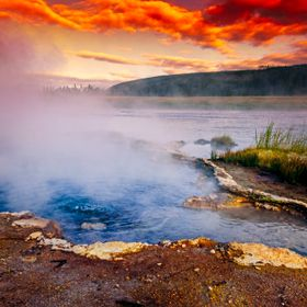 Yellowstone at sunset