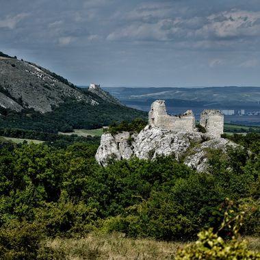 Czechia, Moravia region, castle Sirotci hradek.