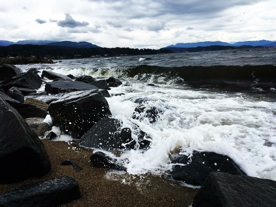 Crashing shoreline