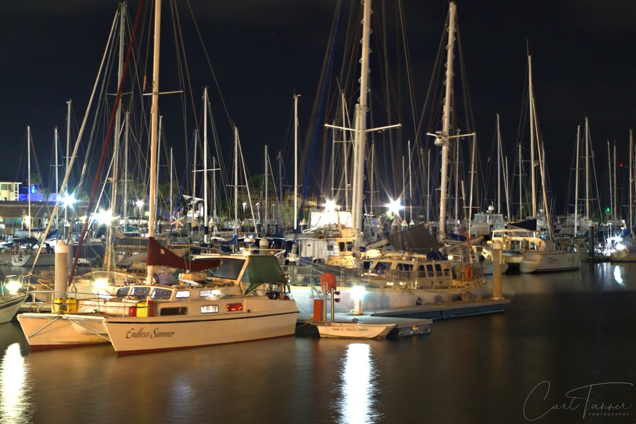 Shot of some boats at the Townsville Marina